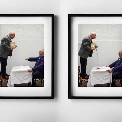 Print: The Ask, The Pour. Pair of limited edition prints, signed and numbered